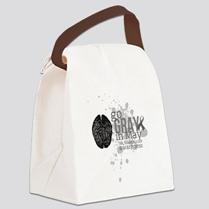 Go Grey in May Canvas Lunch Bag
