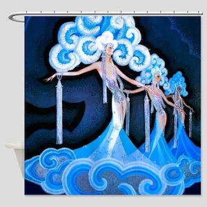Art Deco Folies Bergere Shower Curtain
