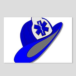 Blue EMS EMT helmet Postcards (Package of 8)
