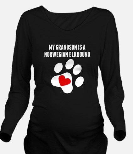 My Grandson Is A Norwegian Elkhound Long Sleeve Ma