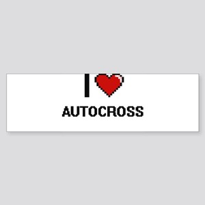 I Love Autocross Digital Retro Desi Bumper Sticker