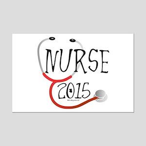 Nurse Graduate 2015 Stethoscope Mini Poster Print