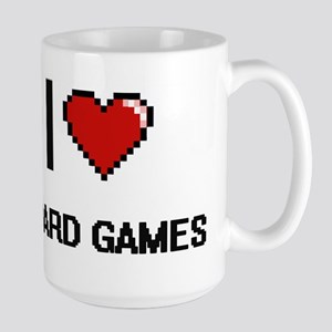 I Love Board Games Digital Retro Design Mugs
