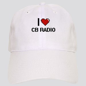 I Love Cb Radio Digital Retro Design Cap