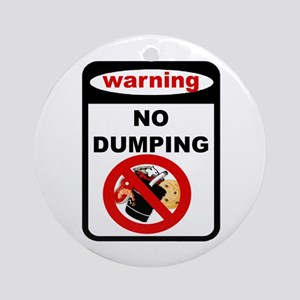 No Dumping Ornament (Round)