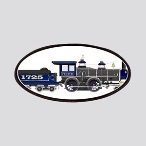 steam train blue and black Patch