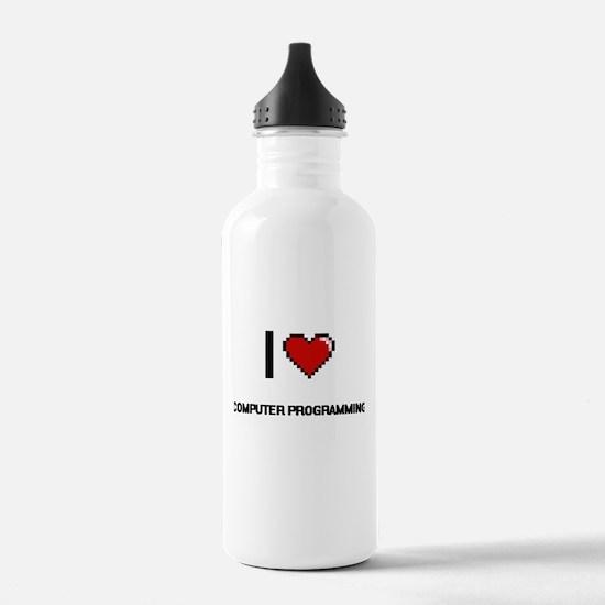 I Love Computer Progra Water Bottle
