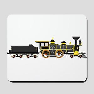 steam train black Mousepad