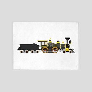steam train black 5'x7'Area Rug