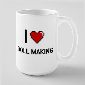 I Love Doll Making Digital Retro Design Mugs