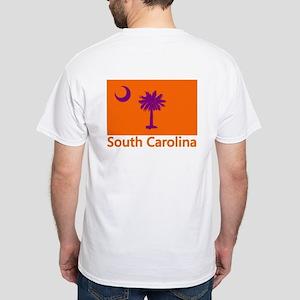 Clemson Flag White T-Shirt