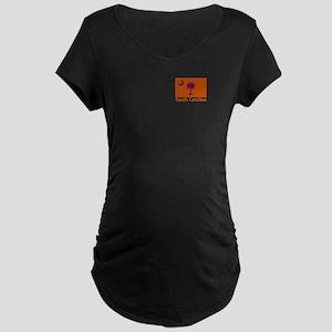 Clemson Flag Maternity Dark T-Shirt