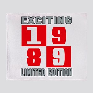 Exciting 1989 Limited Edition Throw Blanket