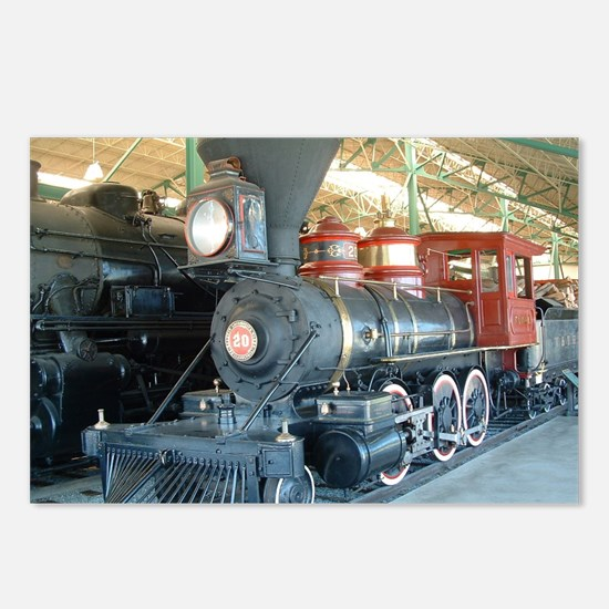 Funny Steam engine Postcards (Package of 8)