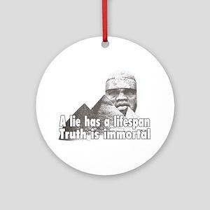 Black History truth Ornament (Round)