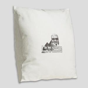 Black History truth Burlap Throw Pillow