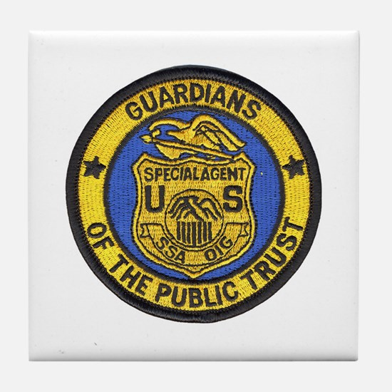Social Security Special Agent Tile Coaster