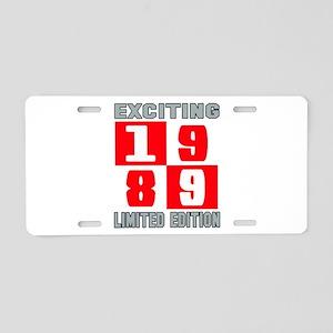 Exciting 1989 Limited Editi Aluminum License Plate