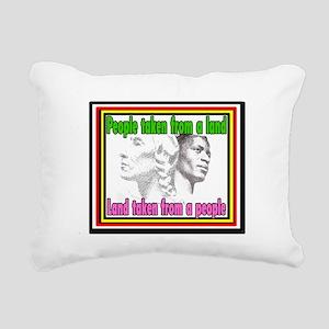 Black American Native Am Rectangular Canvas Pillow