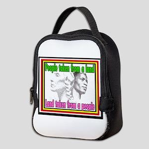 Black American Native American Neoprene Lunch Bag