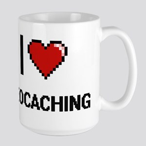 I Love Geocaching Digital Retro Design Mugs