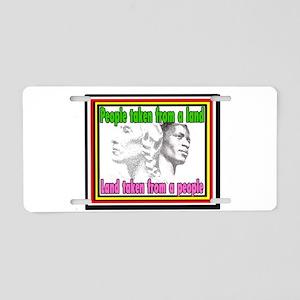 Black American Native Ameri Aluminum License Plate