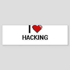 I Love Hacking Digital Retro Design Bumper Sticker