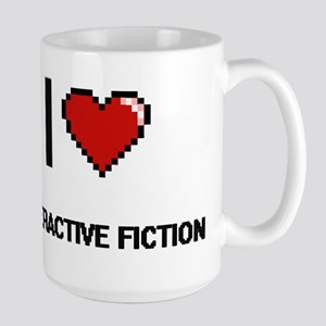 I Love Interactive Fiction Digital Retro Desi Mugs