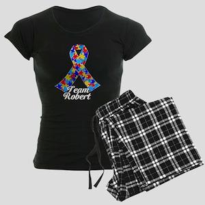 Custom Autism Women's Dark Pajamas