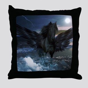 Dark Horse Fantasy Throw Pillow