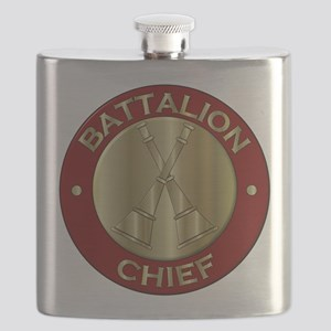 battalion chief brass fire department Flask
