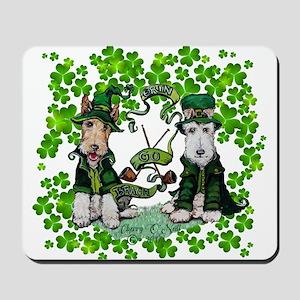 Fox Terrier St. Patrick's Day Mousepad