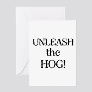 Motorcycle Hog Greeting Card