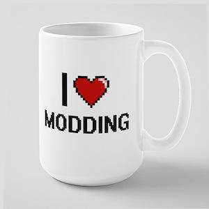 I Love Modding Digital Retro Design Mugs