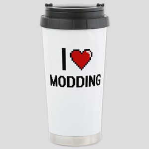I Love Modding Digital Stainless Steel Travel Mug