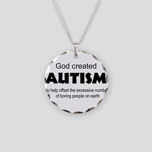 Autism offsets boredom Necklace Circle Charm