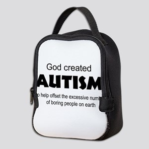 Autism offsets boredom Neoprene Lunch Bag