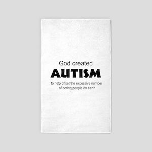 Autism offsets boredom Area Rug