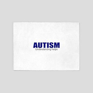 Autism needs understanding 5'x7'Area Rug