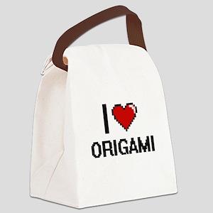 I Love Origami Digital Retro Desi Canvas Lunch Bag