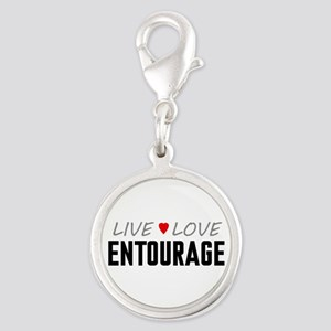 Live Love Entourage Silver Round Charm