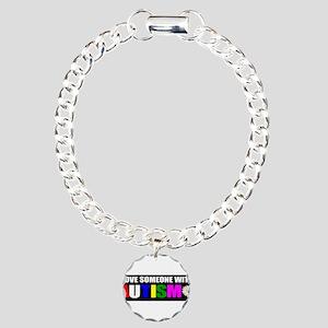 Autism and love Charm Bracelet, One Charm