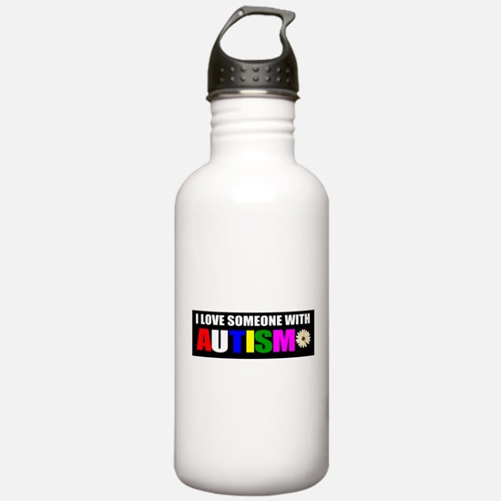 Autism and love Water Bottle