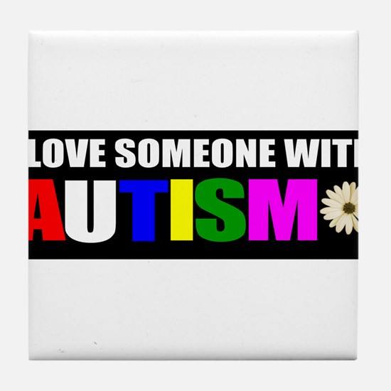 Autism and love Tile Coaster