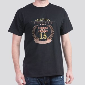 Personalized Name and Year Anniversar Dark T-Shirt