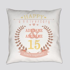 Personalized Name and Year Anniver Everyday Pillow