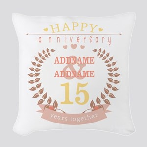Personalized Name and Year Ann Woven Throw Pillow