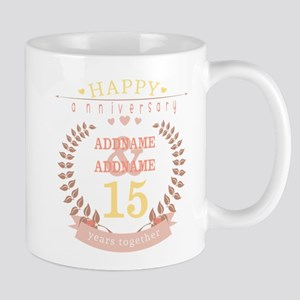 Personalized Name and Year Anniversary Mug