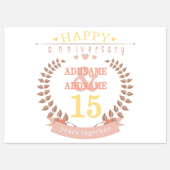 Personalized Name and Year Annivers 5x7 Flat Cards