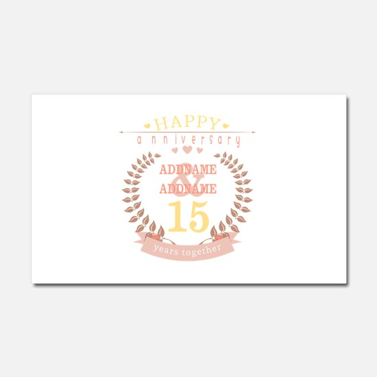 Personalized Name and Year Anni Car Magnet 20 x 12